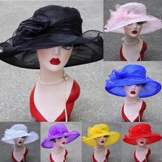 flowerhat, Wool, weddinghat, widebrim