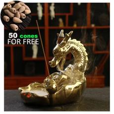 golden, dragonincenseburner, incenseincenseholder, incenseburner