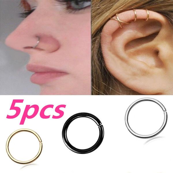 Steel, Mini, Hoop Earring, Jewelry