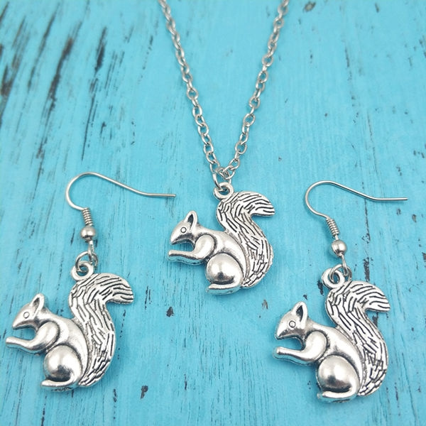 squirrel, squirrelearring, Creative Jewelry Sets, Animal
