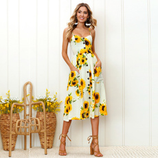 Summer, Plus Size, Waist, Sunflowers