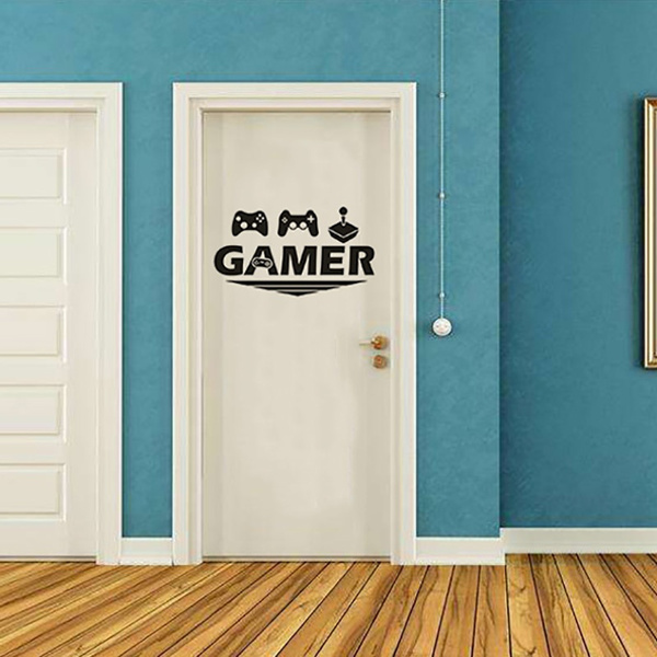 Video Games, videogameroomdecordecal, consolejoystickwallsticker, roomdecordecal