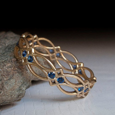 Antique, yellow gold, Engagement, emeraldring