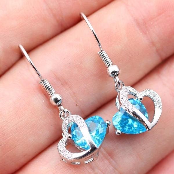 Sterling, Heart, Fashion, heart earrings