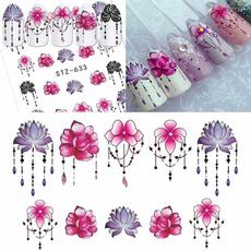 diynaildecor, nail decals, Flowers, art