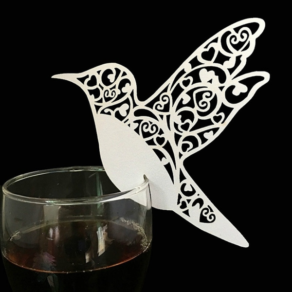 party, Decor, birdtablemarkcard, Laser