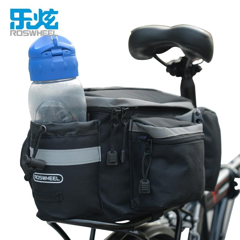 ROSWHEEL Adjustable Cycling Bag 6L Bike Rear Rack Bag Bicycle Shoulder Bag