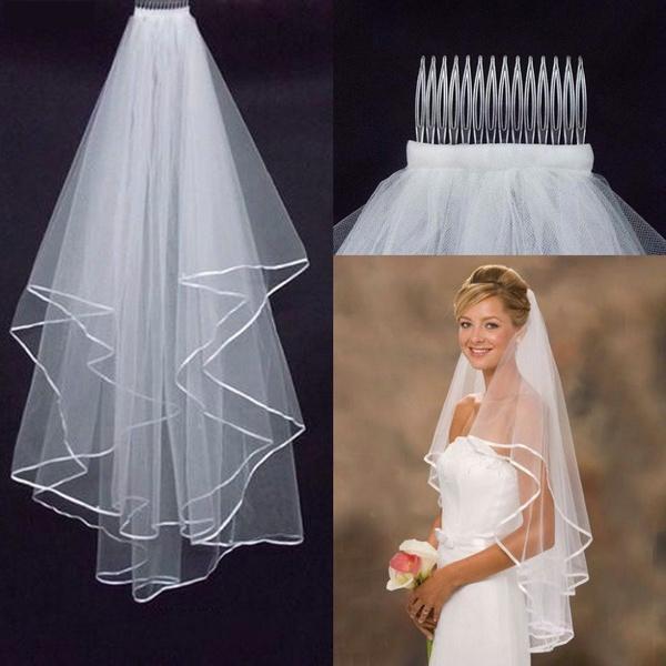 longbridalveil, whiteweddingveil, Wedding Accessories, Bridal wedding