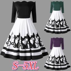 Plus Size, Sexy Dress, boatneck, Long Sleeve