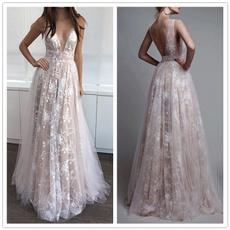 Deep V-Neck, Plus Size, Lace, Bride