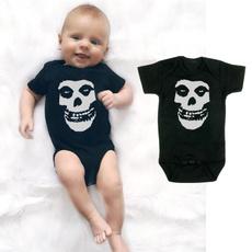 cuterompersandjumpsuit, Shorts, babyromper, skull