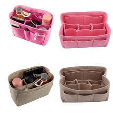 Makeup bag, feltstoragebox, Travel, purses