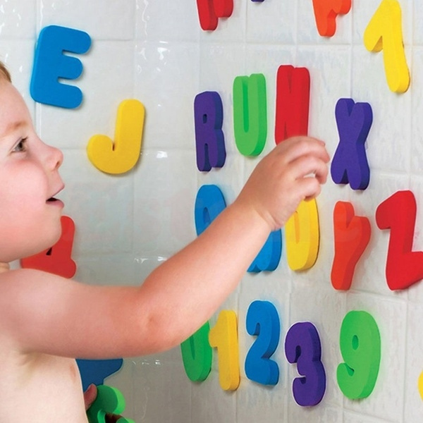 Swimming, alphabet, Children, Numbers