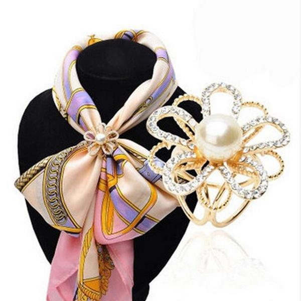 Flowers, Jewelry, silkscarve, Buckles