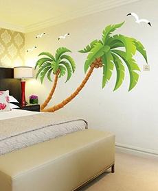 largepalmtree, Wall Art, Home Decor, multicolorwallsticker