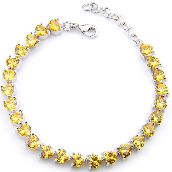 Heart, Chain Link Bracelet, Chain, Bracelet