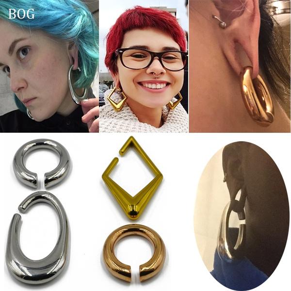 Heavy, exaggeratedearring, Hoop Earring, Jewelry
