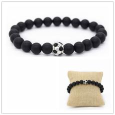 Beaded Bracelets, Soccer, Jewelry, 8MM