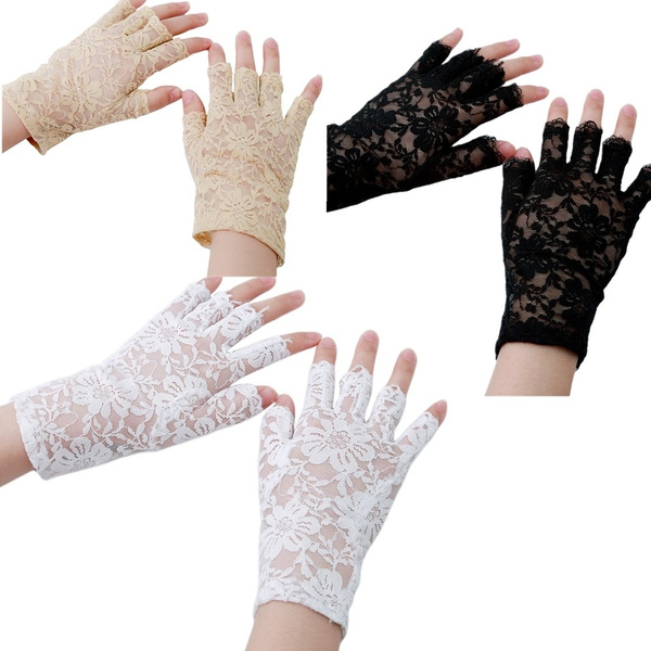 fingerlessglove, Goth, Lace, Accessories