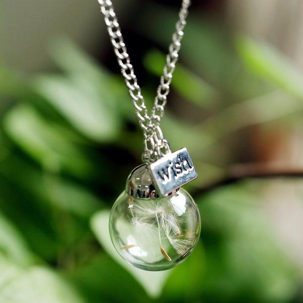 Jewelry, Glass, Fashion necklaces, dandelionnecklace