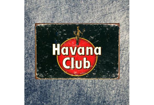 Havana Club Rum Advert Aged Look Vintage Retro Style Metal Sign Pub Bar Mancave