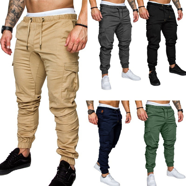 trousers, Men's Fashion, Elastic, Fitness