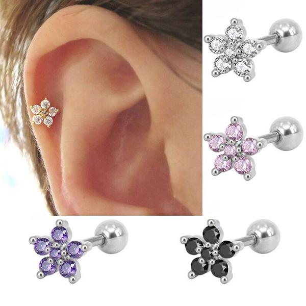 Flowers, Jewelry, earpiercing, Stud Earring