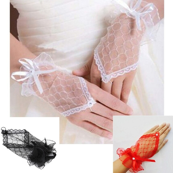 Lace, whiteglove, Wedding, Gloves