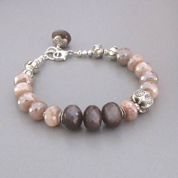 Beaded Bracelets, peruvianopalbracelet, Jewelry, rainbow