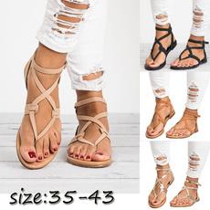 Summer, Flip Flops, Plus Size, womensummersandal