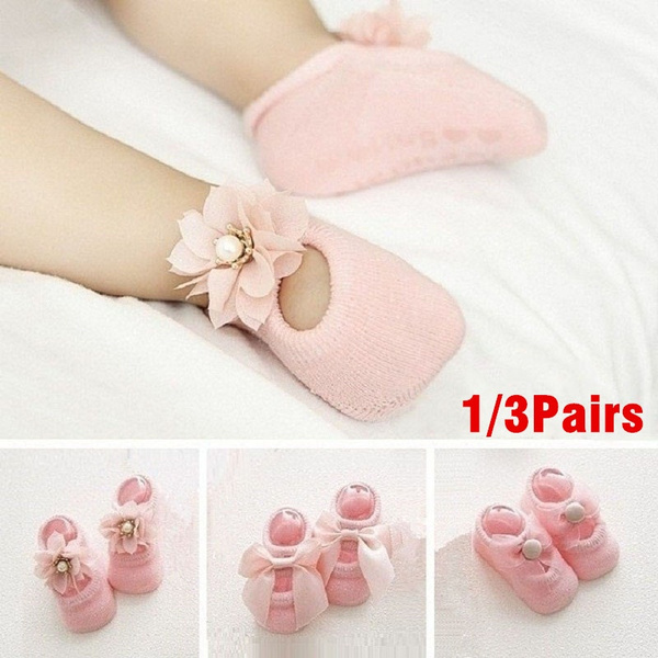 Baby Girl, Flowers, Cotton, Baby Shoes