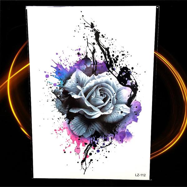tattoo, Flowers, Graffiti, Rose