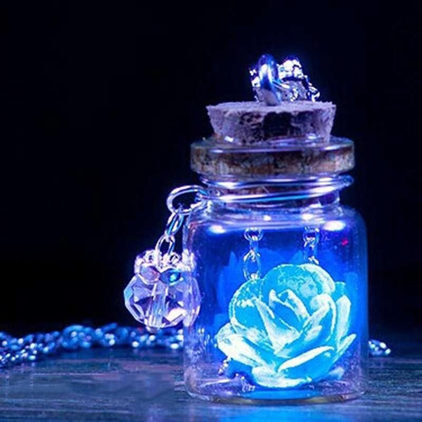 Mini, luminousnecklace, Flowers, Jewelry