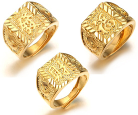 goldplated, ringsformen, Jewelry, gold