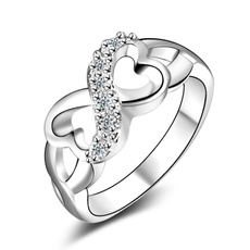 Sterling, Cubic Zirconia, 925 sterling silver, wedding ring