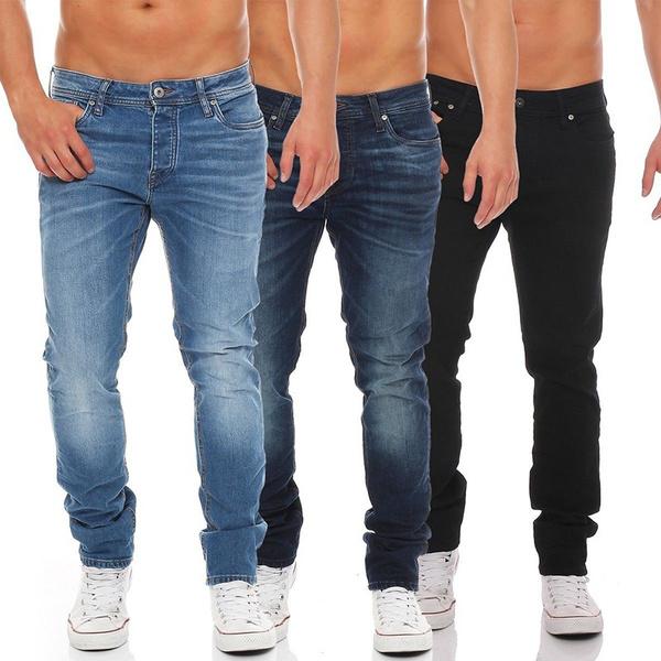 men jeans, Plus Size, Classical, pencil