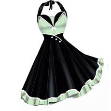 Swing dress, summer dress, halter dress, Pins