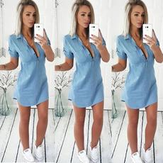 denim dress, blouse, Fashion, Sleeve