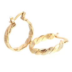 goldplated, engagementgift, Hoop Earring, Jewelry
