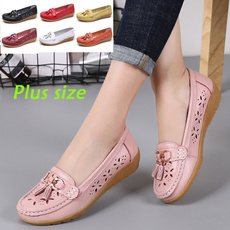 casual shoes, hollowoutshoe, leather shoes, leather