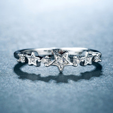 Silver Jewelry, Fashion, Star, wedding ring