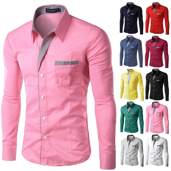 maleshirt, Turn-down Collar, Plus Size, Dress Shirt