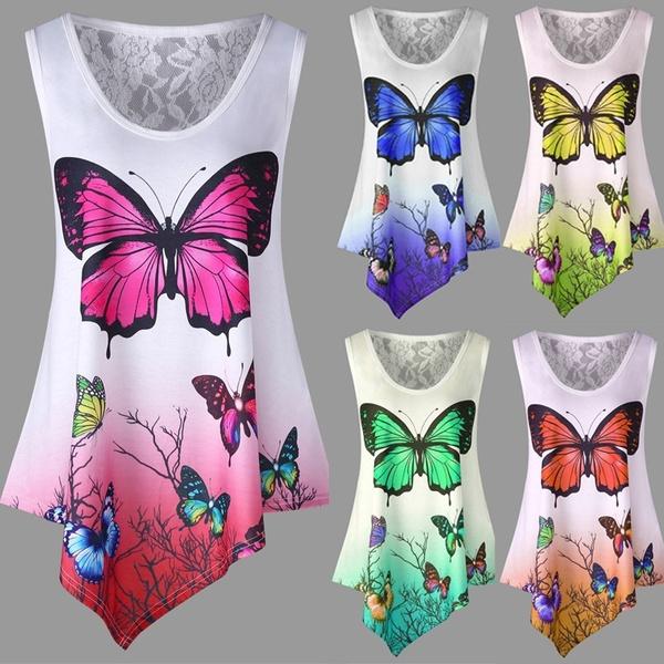 summertopsforwomen, Tanktops for women, Fashion, butterfly