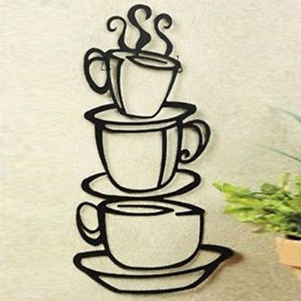 walldecal3d, Coffee, Wall Art, Home Decor