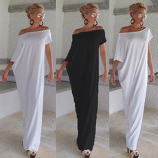 strapless, one shoulder dress, long dress, Dress