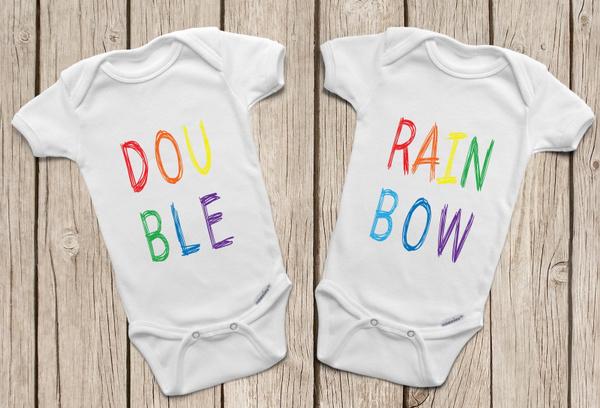 newbornclothing, rainbow, cuteinfant, babygirlsleepsuit