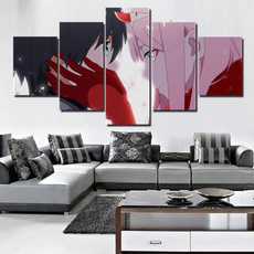 modern abstract oil painting, Home Decor, darlinginthefranxxzerotwo, Oil Painting On Canvas