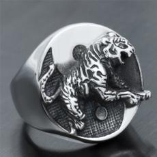 Steel, bikerring, tigerring, titanium steel