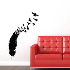 peacock, largewallsticker, art, Home