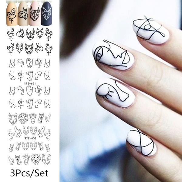 water, nail stickers, flamingo, Animal